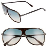 Tom Ford Men's 'Chris' 62Mm Sunglasses - Shiny Havana/ Turquoise