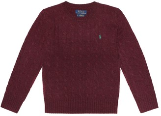 Polo Ralph Lauren Kids Cable-knit wool-blend sweater