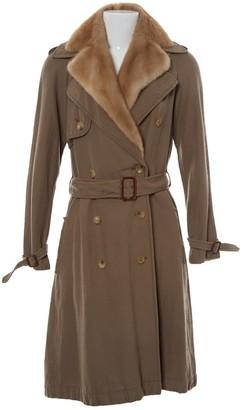 Lanvin Beige Linen Trench Coat for Women