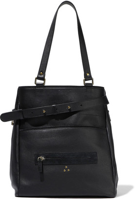 Jerome Dreyfuss Serge Zip-detailed Pebbled-leather Tote