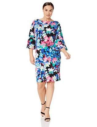 Calvin Klein Women's Plus Size Jersey Bell Sleeve Sheath Dress