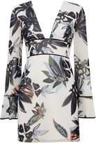 Keepsake V neck floral mini dress
