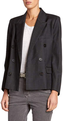 Etoile Isabel Marant Visby Check Double-Breasted Blazer