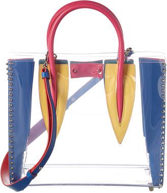 Christian Louboutin Paloma S Medium Pvc & Leather Tote