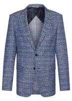 HUGO BOSS Cotton Jacquard Sport Coat, Slim Fit Nobis 36R Blue