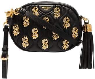 Moschino embellished leather cross-body bag