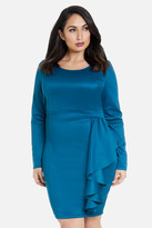 Fashion to Figure Jana Cascading Ruffle Dress