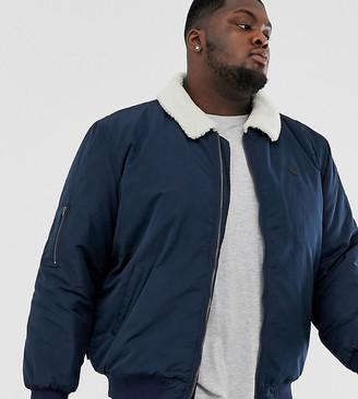 Le Breve Plus borg collar aviator jacket