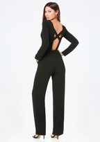 Bebe Crisscross Back Jumpsuit