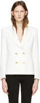 Pierre Balmain Off-white Classic Fitted Blazer
