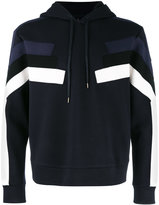 Neil Barrett panelled hoodie - men - Cotton/Polyurethane/Spandex/Elastane/Viscose - S
