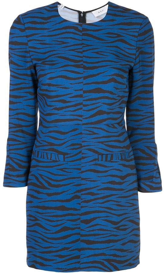 A.L.C. Stretch Fit Tiger-Print Dress