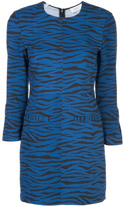 A.L.C. Stretch Fit Tiger-Print Dress