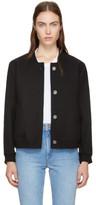 MAISON KITSUNÉ Black Woolen Teddy Jacket