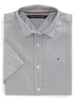 Tommy Hilfiger Dobby Short Sleeve Custom Fit Shirt