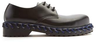 Balenciaga Derby Rope Lace Leather Shoes - Mens - Black