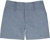 Chambray tailored shorts