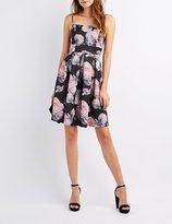 Charlotte Russe Floral Pleated Skater Dress