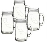 Cathy's Concepts 'Home State' Glass Drinking Jars With Handles