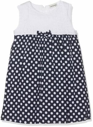 Salt&Pepper Salt and Pepper Baby Girls' B Dress Punkte Navy/White