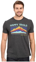 Life is Good Happy Trails Stripe Mountain Cool Tee