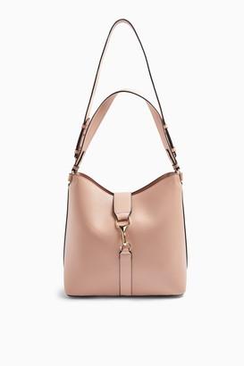 Topshop Pink Clip On Hobo Bag