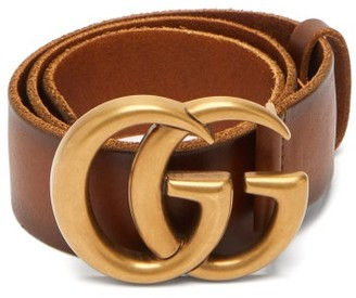 Gucci GG Leather Belt - Tan