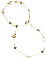 Kenneth Cole New York Pave Geometric Link & Shell Chip Bead Long Necklace