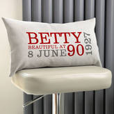 A Type Of Design Personalised 90th Birthday Rectangular Cushion