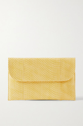 Nancy Gonzalez Envelope Elaphe Clutch - Yellow