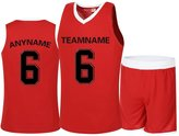 Senston Youth & Adult (6 color) CUSTOM Basketball Jersey and shorts(Any Name/Number)Breathable soft Polyester Basketball Tank Tops