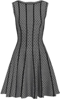 Alaia Flared Jacquard-knit Mini Dress