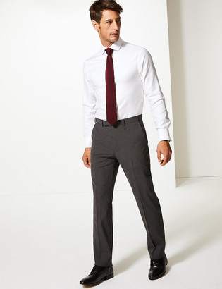 Marks and Spencer The Ultimate Big & Tall Charcoal Tailored Fit Trousers
