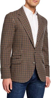 Brunello Cucinelli Men's Dak Felt Deconstructed Wool/Cashmere Blazer