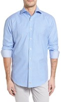 Thomas Dean Men's Classic Fit Mini Check Sport Shirt
