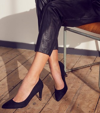 New Look Suedette Pointed Metal Heel Courts