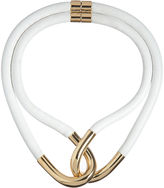 Balenciaga Twin-Linked Leather & Metal Necklace