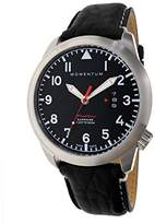 Momentum Men's Swiss Quartz Stainless Steel and Leather Watch, Color:Black (Model: 1M-SP18BS2B)