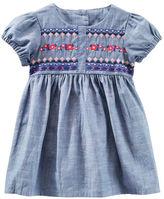 Osh Kosh 2-Piece Embroidered Chambray Dress