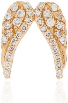 Loquet 18K yellow gold Angel Wings diamond charm