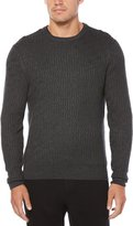 Perry Ellis Cable Crew Long-Sleeve Sweater