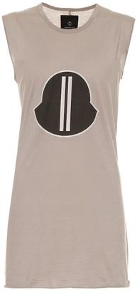Rick Owens x Moncler logo cotton-jersey tank top