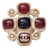 Chanel Baroque Burgundy Metal Rings