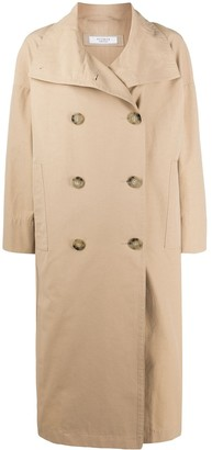 Peserico Double-Breasted Trench Coat