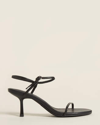 Jeffrey Campbell Black Protozoa Strappy Leather Sandals