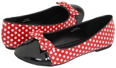 Pleaser USA Mouse-16 (Red Patent/White Polka Dots) - Footwear