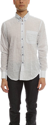 Naked & Famous Denim Regular Shirt Lightweight Pencil Stripes