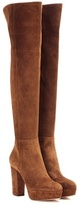 Gianvito Rossi Temple Suede Over-the-knee Platform Boots