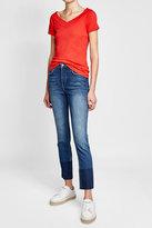 Velvet Off-Shoulder Cotton T-Shirt