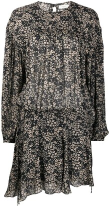 Etoile Isabel Marant Long-Sleeved Floral Dress